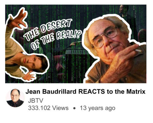Jean Baudrillard REACTS to the Matrix