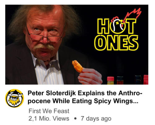 Peter Sloterdijk Explains the Anthropocene While Eating Spice Wings