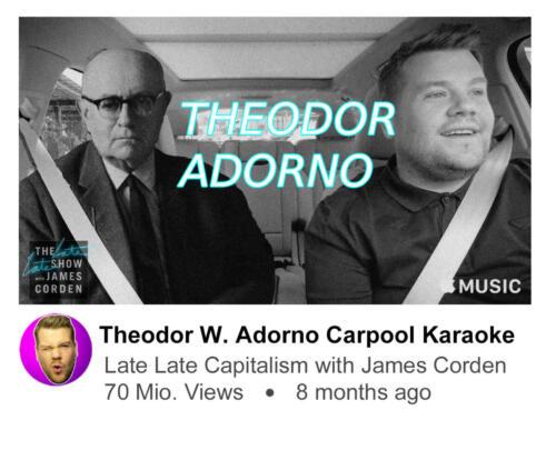 Theodor W. Adorno Carpool Karaoke