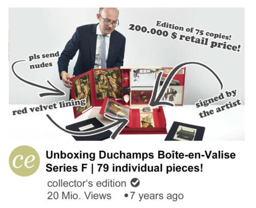 Unboxing Duchamps Boîte en Valise Series F